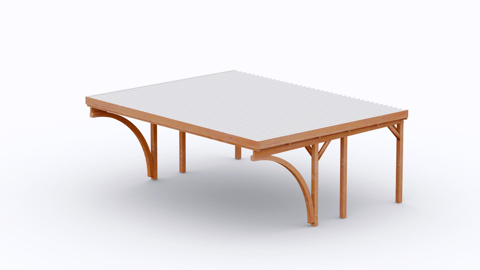 Verzauberkunst Osto Holz Sammlung Von Carport 610x510 Cm · Fichte · 2