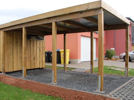 carport 410 x 900cm mit abstellraum in kiefer fichte od l rche vom hersteller ebay. Black Bedroom Furniture Sets. Home Design Ideas